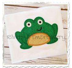 $2.95Applique Frog Machine Embroidery Design