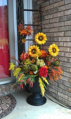 fall porches | Fall Porch Arrangement