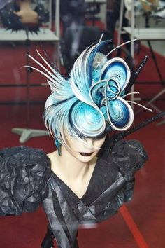 front of blue updo