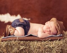 Newborn Baby cowboy hat and boots set by tinab76 on Etsy