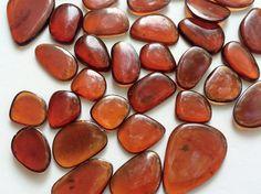 WHOLESALE 10 Pcs Hessonite Garnet Cabochons Loose by gemsforjewels