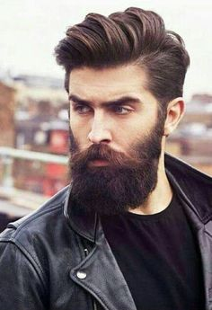 60 Awesome Beards For Men - Masculine Facial Hair Ideas Mens Hairstyles With Beard, Hairstyles Haircuts, Haircuts For Men, Trendy Hairstyles, Hipster Hairstyles Men, Hairstyle Men, Beard Styles For Men, Hair And Beard Styles, Long Hair Styles