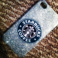 This is super cute and glittery! All girls who like Starbucks will love this case! Bling Phone Cases, Cool Iphone Cases, Ipod Cases, Diy Phone Case, Cute Phone Cases, Starbucks, Whatsapp Pink, Walpaper Black, Transparent Bag