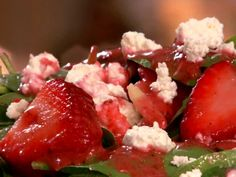 Strawberry and Spinach Salad Recipe : Patrick and Gina Neely : Recipes : Food Network Wine Recipes, Food Network Recipes, Great Recipes, Food Processor Recipes, Cooking Recipes, Favorite Recipes, Healthy Recipes, Recipes Dinner, Yummy Recipes