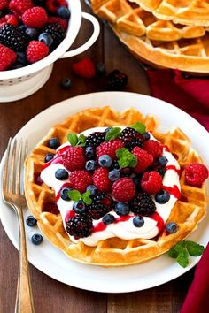 Best Belgian Waffle Recipe Light Fluffy and Crisp Cooking Classy is part of Belgian waffles recipe My goto waffle recipe! These Belgian waffles are light, tender and fluffy on the inside with just - Waffle Recipes, Brunch Recipes, Breakfast Recipes, Breakfast Ideas, Waffle Toppings, Fall Breakfast, Tumblr Breakfast, Breakfast Healthy, Christmas Breakfast