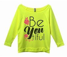 Be You Tiful - Very popular 3/4 Sleeve Vintage looks with raw hem edges giving it a trendy unique looks and fit. You can wear it off your shoulder or on your shoulder. See our size chart for exact fitting and look on model. Runs TRUE to size, do not order a size up. Can be worn off shoulder. We have this style in a few very popular colors. These are light weight weighting about 7oz made with a nice soft terry cotton material. We have everything you see on our site in stock and ready ...