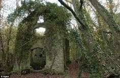 Falling down: This derelict remains of the century Fir Hill manor house on the Hoblyn estate in Cornwall. Derelict Buildings, The Heirs, Oh The Places You'll Go, Abandoned Places, Acre, Around The Worlds, Cornwall England, Manor Houses, Naturaleza