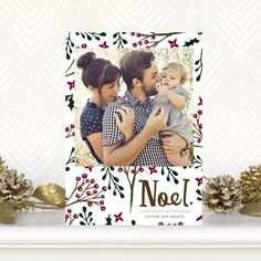 Holly Hymn - #Christmas Cards by Tallu-lah in a vibrant Pomegranate Red