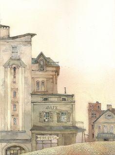 Сообщество иллюстраторов / Иллюстрации / Екатерина Бородачева / фрагмент обложки.............город