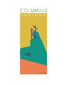 Columbus Indiana St. Bartholomew  8 x 10 by tammyappledesign
