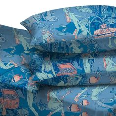 Pearl Diver Sheets King Blue by Vice Menchants