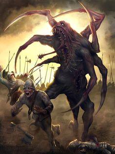 underground fantasy for your pleasure Dark Fantasy Art, Fantasy Demon, Fantasy Beasts, Demon Art, Fantasy Monster, Fantasy Artwork, Monster Concept Art, Monster Art, Dark Creatures