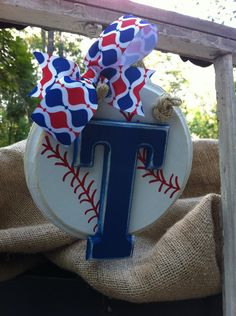 Texas Rangers Baseball Mini Classic Sign. $12.50, via Etsy.
