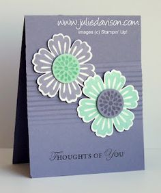 Use the Paper Crimper to crimp the middle of the card base. Easy way to add texture to a card -- by Julie Davison, juliedavison.com