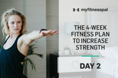 Welcome to Day 2 of the four-week fitness plan to increase strength! In just four short weeks youll be on your way to a stronger fitter you. This strength and mobility program will show you where to begin as well as how to make progressions. My Fitness Pal, Heath And Fitness, Fitness Plan, Fitness Tips, Workout For Beginners, Beginner Workouts, Exercise Workouts, Healthy Exercise, Body Workouts