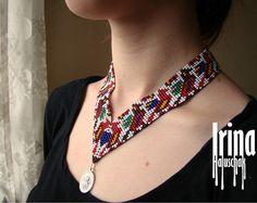 Joyería del collar tradicional ucraniano popular por GutsulkaBeauty