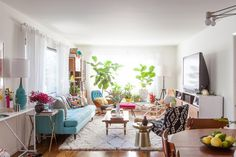 Bri Emery's New Living Room, designed by Emily Henderson, shot by Laure Joliet