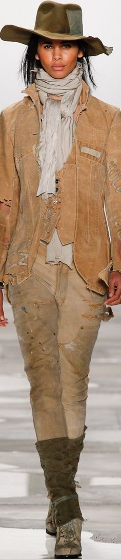 GREG LAUREN SPRING 2016 RTW women fashion outfit clothing style apparel @roressclothes closet ideas