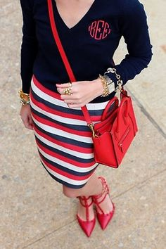 Preppy with a little bit of spice... would you look at those shoes!