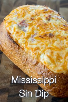 Want to know which dish we'll be bringing to every potluck and game day get-together this fall? This Mississippi sin dip! Not only is this dip addictively good, it's also suuuper portable, which is obvious appetizers Mississippi Sin Dip Finger Food Appetizers, Yummy Appetizers, Easy Appetizer Dips, Easy Appetizers For Party, Party Appetizer Recipes, Appetizers For Christmas Party, Crock Pot Appetizers, Cajun Appetizers, Last Minute Appetizer