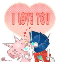 Elita One kissed Optimus Prime