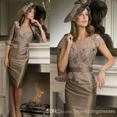 Real Image 2014 Lace Mother Of The Bride Dresses With Jackets Sheath Crew Half Sleeve Knee Length Taffeta Mothers Day Dresses Mothers Dresses For Wedding From Topweddingdresses, $91.4| Dhgate.Com