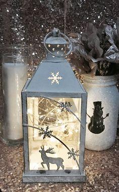 Christmas/Holiday Rustic metal Lantern