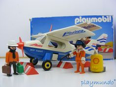 PLAYMOBIL AVION AEROPLANO REF. 3788 (VERSION 1 AÑO 1988) Taxi, Wooden Toys, Nerf, Planes, City, Playmobil, Wooden Toy Plans, Wood Toys, Woodworking Toys