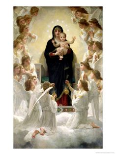 The Virgin with Angels, 1900 Giclee Print at AllPosters.com
