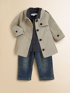 aa2b14eeeca0 Baby Boy Burberry Trench - so cute! My little DJ would look super handsome  in this.