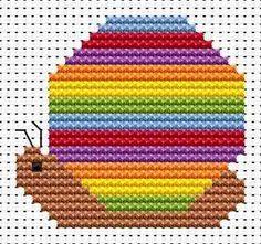 Sew Simple Snail cross stitch kit