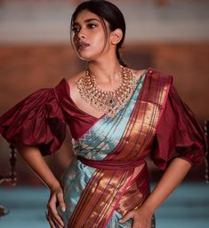 "31eb77a62c ChicBlouses on Instagram: ""Saree Inspiration by @pashudh Blouse by  @sameenas.store"