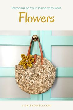 How to Knit a Flower - Vickie Howell Yarn Flowers, Knitted Flowers, Go Outside, Straw Bag, Knitting Patterns, Purses, Bags, Accessories, Handbags