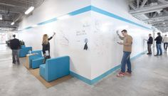 Create Dry Erase Wall Calendars and More | IdeaPaint    An open invitation for creativity and fun at the workplace for a more effective collaborative environment