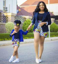 African Print/ Ankara Blouse and Skirt/ African Clothing/ Ankara Print : Ankara Styles For Kids, African Dresses For Kids, African Fashion Designers, Latest African Fashion Dresses, African Print Dresses, African Print Fashion, Africa Fashion, African Kids, African American Fashion