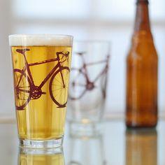 bike + beer glasses