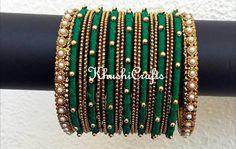 Silk Thread Necklace, Beaded Necklace Patterns, Jewelry Patterns, Silk Thread Bangles, Thread Jewellery, Diy Jewellery, Bridal Bangles, Wedding Jewelry, Thread Bangles Design