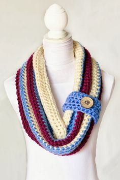 Chunky Button Cowl Crochet Pattern via Hopeful Honey.  If I lived where is was cold, I would to have this.