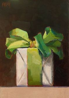 What a clever idea to paint beautifully wrapped gifts. I featured Karen Appleton in one of my earliest posts ( here ) and have just discove...