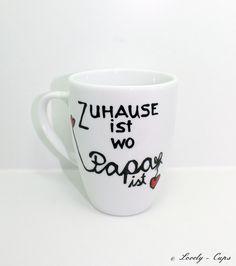 PAPA Tasse mit Name für Vatertag Geschenk für Papa von Lovely-Cups via dawanda.com