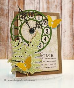 Wanda Guess: A Blog Called Wanda – ...Inspire Great Things... - 1/2/14  (PTI: Hands of Time stamps; Clock dies; Number dies; Meadow Greens stamps/dies; Love Lives Here stamps/dies.)