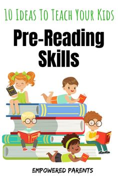 10 Ideas to Teach Your Kids Pre-Reading Skills. Before any child can learn to read and spell, five pre-reading skills must be learnt. Here are 10 simple ideas for parents to develop these skills at home. Preschool Education, Preschool Learning, Learning Activities, Preschool Library, Montessori Elementary, Early Education, Elementary Education, Pre Reading Activities, Kindergarten Activities