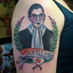 Ruth Bader Ginsberg Tattoo