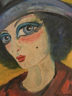 Kees van Dongen (Dutch, 1877-1968). Fascinating focus on her eyes!