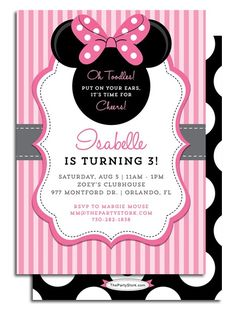 minnie mouse party invitations - Αναζήτηση Google