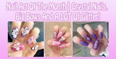 Wave hello to this awesome post! 👋 Nail Art Of The Month | Crystal Nails, Big Bows And A LOT Of Glitter! http://oh-so-kawaii.com/index.php/2016/12/01/nail-art-crystal-bows-glitter/