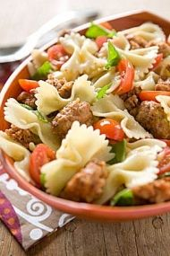 Farfalle with Hot Italian Sausage, Tomatoes and Basil   Whole Foods Market