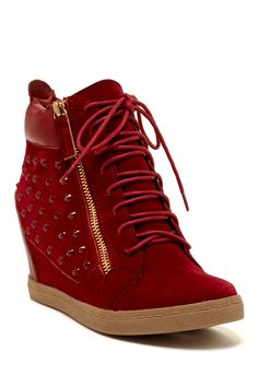 Dupree Studded Wedge Sneaker on HauteLook