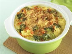 cauliflower & broccoli au gratin {clean eating}
