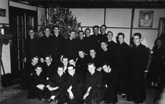 Christmas 1949 at the Paulist Fathers Novitiate in Oak Ridge, NJ.  Some of the men became part of our ordination Class of 1956.